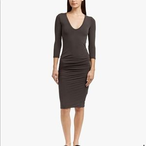 James Peres V-Neck Skinny Dress